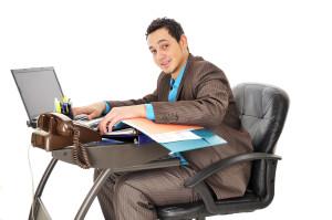 sitting at office desk alexander method