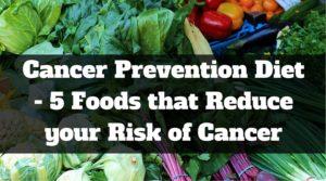 Cancer Prevention Diet -