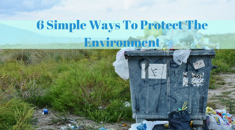 6 Simple Ways To Protect The Environment